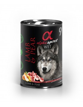 Alimento Húmido Alpha Spirit - Borrego e Pera 400gr