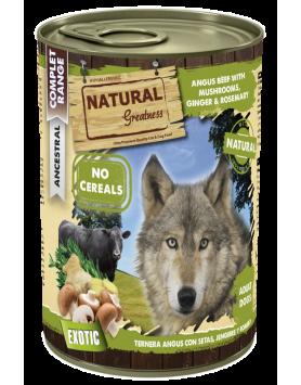 Alimento Húmido Natural Greatness - Carne Angus com Cogumelos 400g