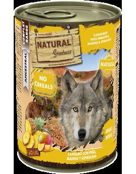 Alimento Húmido Natural Greatness - Canguru com Ananás 400g