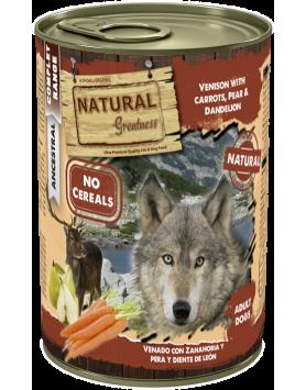 Alimento Húmido Natural Greatness - Carne de Veado com Cenouras 400g