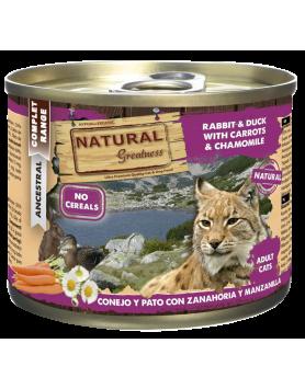 Alimento Húmido Natural Greatness - Coelho e Pato 200g