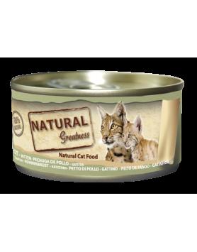 Alimento Húmido Natural Greatness (Gatos e Gatinhos) - Peito de Frango 70g