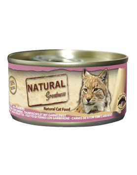 Alimento Húmido Natural Greatness - Atum com Camarão 70 g
