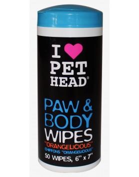 Toalhitas Pet Head Paw & Body - Orangelicious (50 unidades)