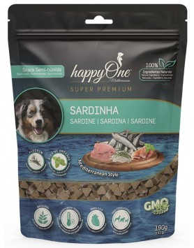 Snack happyOne Mediterraneum Cão - Sardinha 190gr