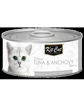 Alimento Húmido KitCat Super Premium - Atum e Anchovas 80g