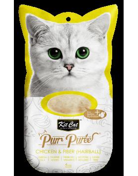 Alimento Húmido KitCat Purr Puree - Frango e Fibra