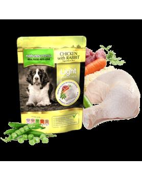 Natures Menu Saquetas Cão (Light) - frango e coelho 300g