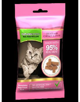 Natures Menu Recompensas Gato - frango e fígado 60g