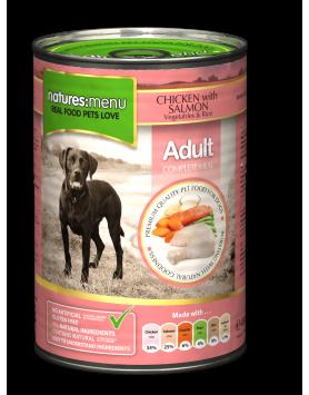 Alimento Húmido Natures Menu Cão - frango e salmão 400g