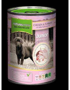 Alimento Húmido Natures Menu Cão (Junior) - frango e peru 400g