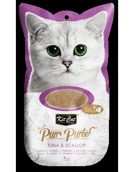 Alimento Húmido Kit Cat Purr Puree - Atum e Vieira