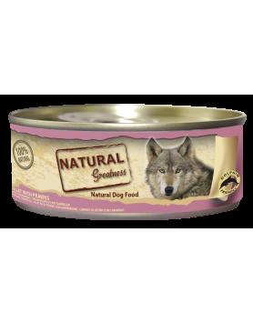 Alimento Húmido Natural Greatness - Filete de Atum com Gambas 156g