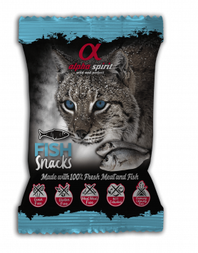 Snack Alpha Spirit para gato - Peixe 50g