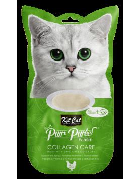 Alimento Húmido Kit Cat Purr Puree Plus - Collagen Care - Frango