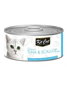 Alimento Húmido Kit Cat Super Premium - Atum e Vieiras 80g